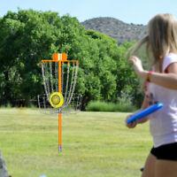 Portable 18 Chains Disc Golf Basket Catcher Frisbee Golf Practice Target Steel