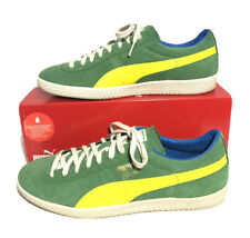 Puma Brasil Yellow Green Suede Men's Casual Shoes Size 10.5