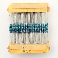 500pcs 50 Values 1/4w 1% Metal Film Resistor Assortment Kit Set Mix 1-10M ohm