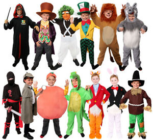 BOYS BOOK CHARACTER COSTUMES WORLD BOOK DAY CHILDS FANCY DRESS FILM PARTY OUTFIT