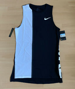 Nike Pro * Fitness Shirt * Tank Top * Schwarz Weiß * Gr. M * NEU