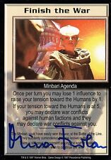 Babylon 5 Ccg Mira Furlan Premier Edition Finish the War Autographed