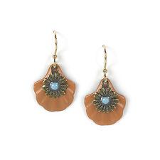 Jody Coyote Earrings JC0608 new Seasons QN402-01 gold dangle flower turquoise