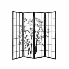 Artiss 4 Panel Room Divider Screen Privacy Dividers Pine Wood Stand Shoji Bamboo