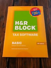 Genuine H&R Block Tax Software Basic Federal 2014 Brand New Sealed Free shipping