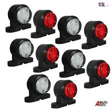 Set Of 10 Mini 12-24v Led Rubber Stalk Marker Lights Lorry Truck Trailer Chassis