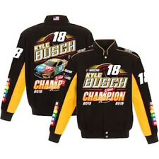 Kyle Busch 2019 JH Design #18 M&M's NASCAR medium Champion Uniform Twill Jacket