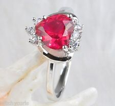 Sz 8 Silver Plate RING with NATURAL ROSE QZ Setting 84g BRAND NEW