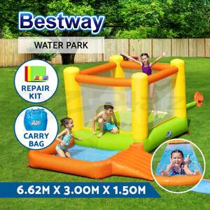 Bestway Inflatable Water Slide Water Park Jumping Splash Toy Outdoor Slides