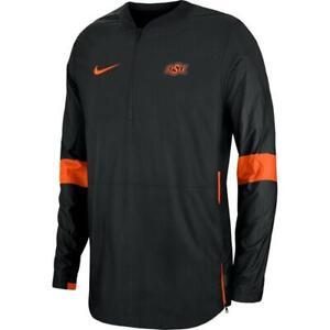 Nike Men's OSU Oklahoma State Cowboys Coaches Quarter-Zip Jacket NWT 4XL