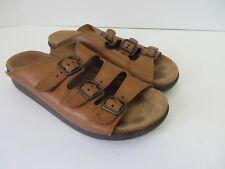 SAS Tripad Comfort Sandals 3 Buckle Straps Slip On Brown Leather 8N  #735