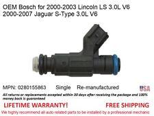 1 Fuel Injector for 2000-2007 Lincoln LS/Jaguar S-Type 3.0L V6 OEM Bosch