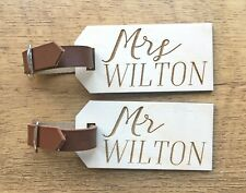 Personalised Wedding Gifts For Bride Groom Mr Mrs Luggage Tags Honeymoon Gifts