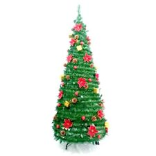 ALEKO Instant Pop Up Christmas Holiday Tree 7 Foot Decorations Included