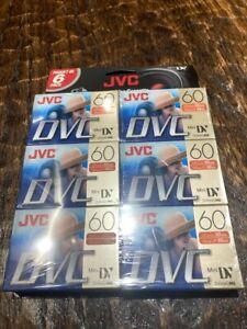 6-Pack New Digital Video Cassette JVC Mini DVC tape 90mins (DVM60ME)
