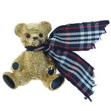 Auth BURBERRYS LONDON Logo Bear Pin Brooch Gold-Tone France Accessory 00BA537