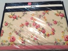 Ralph Lauren Chaps Lined Meadow Floral Petite Roses Pink Yellow Blue Valance NEW