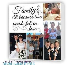 """20""""X20"""" COLLAGE CANVAS PRINT PERSONALISED PHOTO BIRTHDAY WEDDING MOTHERSDAY"""