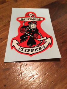 Baltimore Clippers AHL Water Decal estimated 1970's Excellent