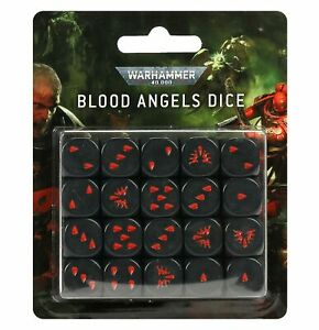 Warhammer 40k Blood Angels Dice - New