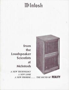 McIntosh Loudspeaker Division Catalog, Vintage, Mac Cat. No. 038487, 19-pages