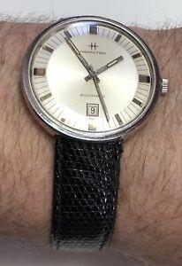 Rare Hidden Lugs Large 38mm Vintage 1968 Hamilton SS Automatic Watch 694A Runs