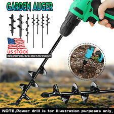 "8.6""-29.5"" Planting Hole Twist Drill Bit Garden Yard Earth Planter Digger Tools"