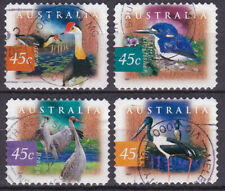 AUSTRALIA 1996 Fauna Birds Adhesive Yv 1596 to 1599 Used very fine
