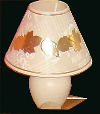 Cream and gold pottery  table lamp 1b