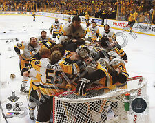 Pittsburgh Penguins Celebrate on Ice 2017 Stanley Cup Champions 8x10 Photo #3