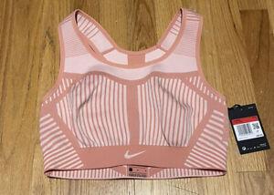 Nike FE/NOM Flyknit High Support Sports Bra Gym Training Pink AJ4047-606 Size L