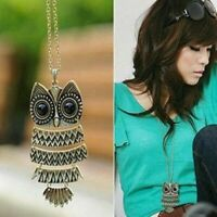 Women Necklace Owl Animal Long Fashion Pendant Sweater Chain Vintage Jewelry