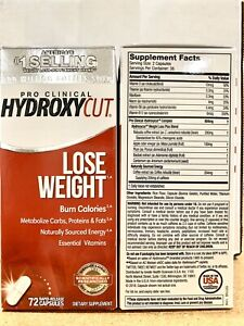 Hydroxycut Pro Clinical 72ct Weight Loss Capsules Dietary Supplement 2 PACK