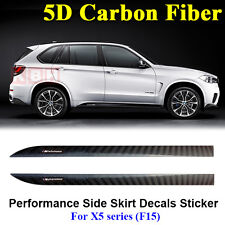 M Performance Side Skirt Stripe 5D Carbon Fiber Sticker for BMW F15 F85 X5 SUV