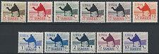 1942 Libia Segnatasse Meharista 11v. SL (MNH) Cat. Sass. n. 25/35 € 55,00