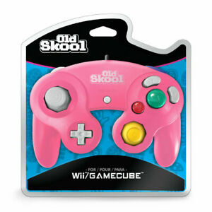 Old Skool Dual Analog Controller for Nintendo Game Cube & Wii - Mascot Pink 12d