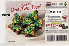 1998 magazine ad M&M's COOKIES mms M&M candy advert print RECIPE Brownie Trees