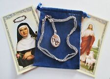 St. Rita, Saint Medal with 24 Inch Necklace, 2nd Style
