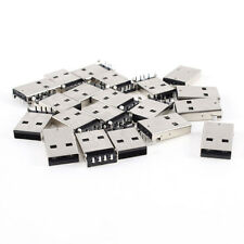20 Pcs USB Male Type A Port Right Angle 4-Pin DIP Jack Connector LW