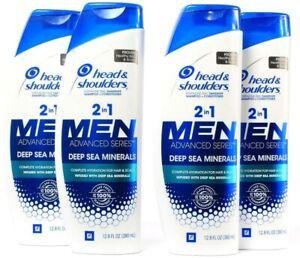 4 Head Shoulders 2 in 1 Men Advanced Series Deep Sea Minerals 12.8Fl oz BB 8-22