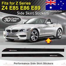Fits BMW Z4 E85 E86 E89 M Performance Side Skirt Sill 3D CARBON FIBER Sticker AU
