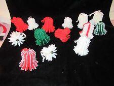 15 Vintage Plastic Mesh Bell Christmas Ornaments