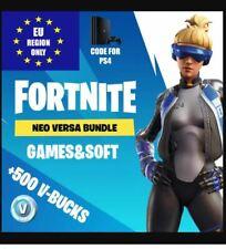 PS4 PlayStation 4 - Fortnite Game Neo Versa Bundle Code Outfit + 500 V-Bucks