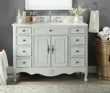"46.5"" Benton Collection Fayetteville Antique Gray Bathroom Vanity Sink Hf-8535Ck"