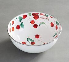 Pottery Barn Cherry Enamel Serve Bowl SUMMER ENTERTAINING