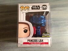 FUNKO POP STAR WARS PRINCESS LEIA BLUE CHROME 295 CELEBRATION 2019 1/2500 NEW