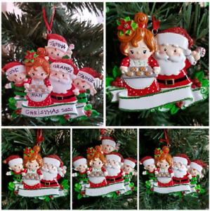 Personalised Christmas Decoration Grandma Nan Grandad Grandkids Santa Mrs Claus