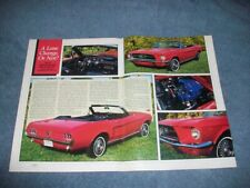 """1967 Ford Mustang Convertible Vintage Article """"A Lane Change or Not??"""""""