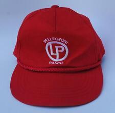 54d24c1b76f PELLEGRINI LP RANCH Baseball Cap Hat One Size Snapback Flat Bill Red