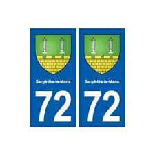 72 Sargé-lès-le-Mans blason autocollant plaque stickers ville droits
